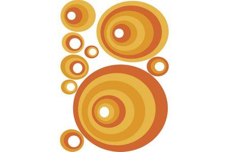 Dimex Dekoračné nálepky na stenu Oranžové kruhy - 50 x 70 cm