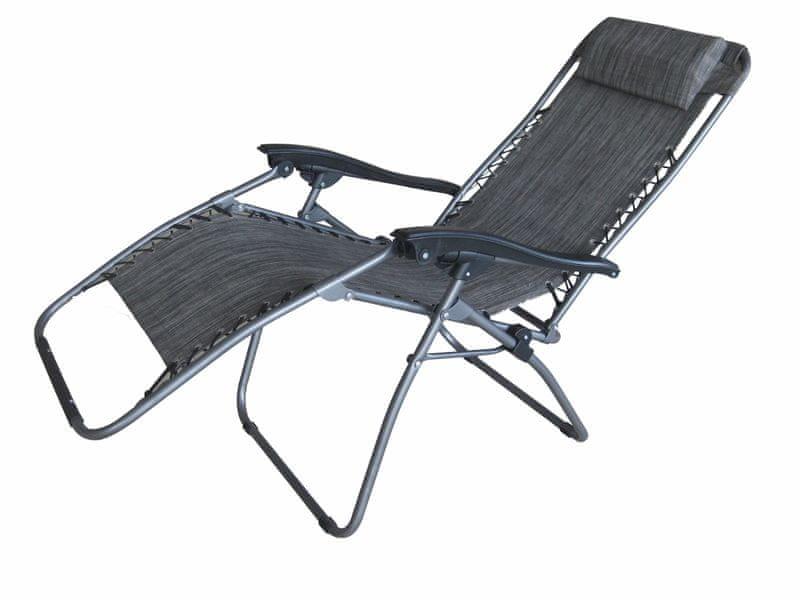 Dimenza Polohovatelné relaxační lehátko - šedé