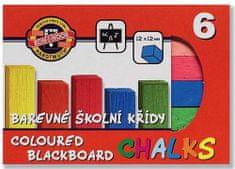 Křída školní barevná - 6 barev