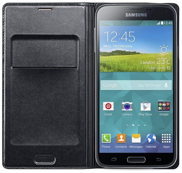 Samsung flip s kapsou EF-WG900B Galaxy S5, černý