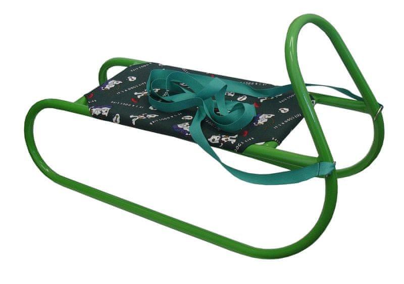 Acra Sáňky kovové dětské zelené