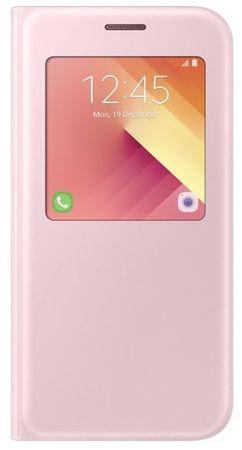 Samsung torbica S-view za Galaxy A5 2017, roza