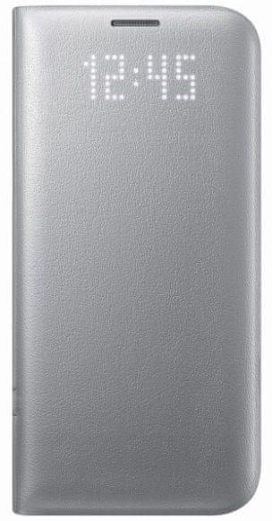 Samsung flipové pouzdro View Cover, Galaxy S7, stříbrný