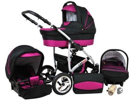 Sun Baby Wózek wielofunkcyjny Largo 3w1, fiolet