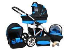 Sun Baby Kombinovaný kočárek Largo 3v1 modrá - rozbaleno