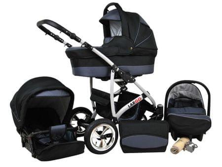 Sun Baby Wózek wielofunkcyjny Largo 3w1, szary