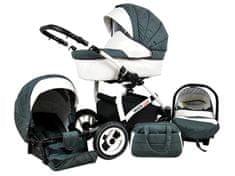 Sun Baby Wózek wielofunkcyjny White lux 3w1, grey