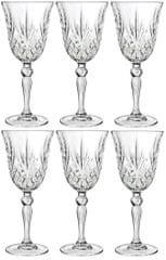 RCR Crystal Melodia sklenice na víno 210 ml, 6 ks