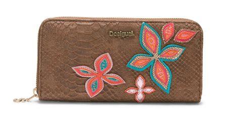 Desigual dámská hnědá peněženka Fly Patch Zip Around