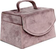 Sifcon Šperkovnice - samet, růžová
