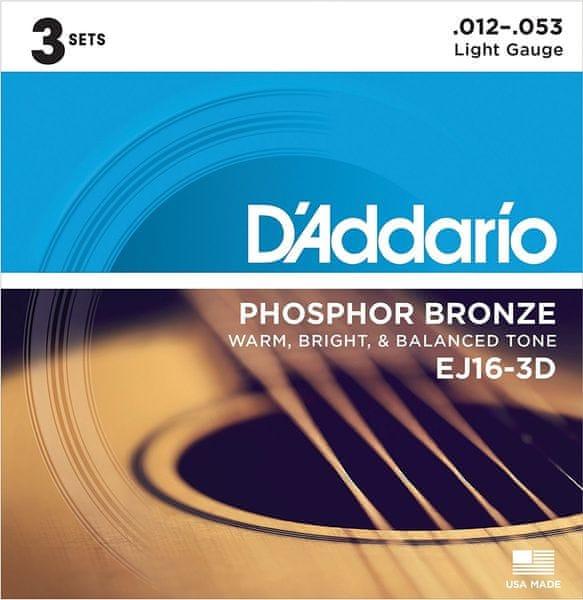 Daddario EJ16-3D Kovové struny pro akustickou kytaru
