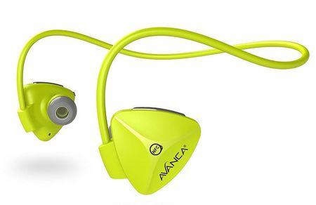Avanca slušalke D1 Sports, neon rumene