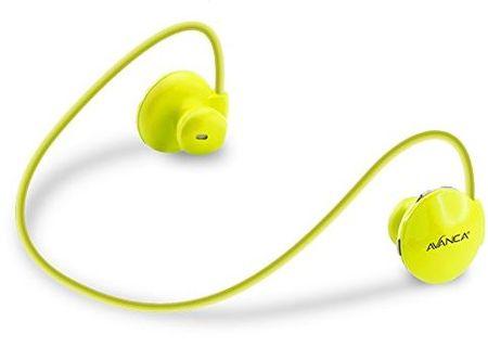 Avanca slušalke S1 Sports, neon rumene