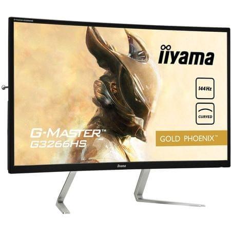 iiyama LCD LED ukrivljen Gaming monitor G-Master Gold Phoenix G3266HS-B1 31,5