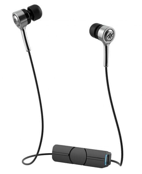 iFrogz Bluetooth špuntová sluchátka Coda, stříbrná