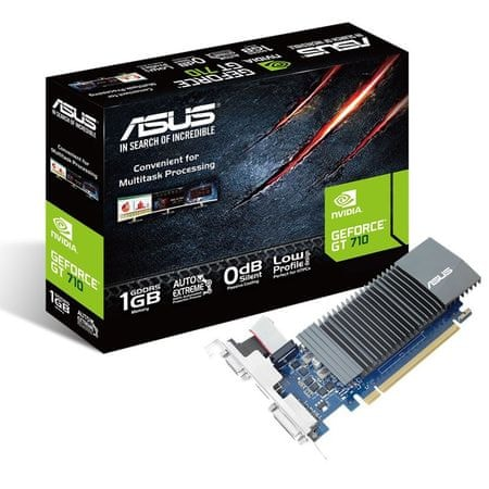 Asus grafična kartica GeForce GT710 1GB DDR5 silent (GT710-SL-1GD5)