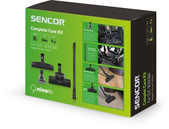 SENCOR sáčkový vysavač SVC 9000BK + 6 let záruka na motor