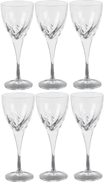 RCR Crystal Twist sklenice na víno 330 ml, 6 ks