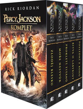 Riordan Rick: Percy Jackson komplet 5 knih v dárkovém boxu s filmovou obálkou