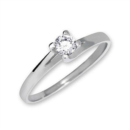 Brilio Zlatý zásnubní prsten 223 001 00090 07 - 1,70 g (Obvod 49 mm) zlato bílé 585/1000