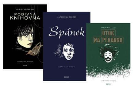 Murakami Haruki: Komplet Spánek + Podivná knihovna + Útok na pekárnu