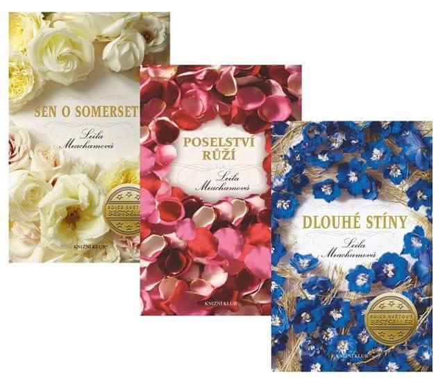 Meachamová Leila: Komplet Poselství růží + Sen o Somersetu + Dlouhé stíny