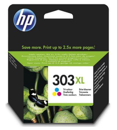 HP Inkoustová náplň HP 303XL (T6N03AE) CMY
