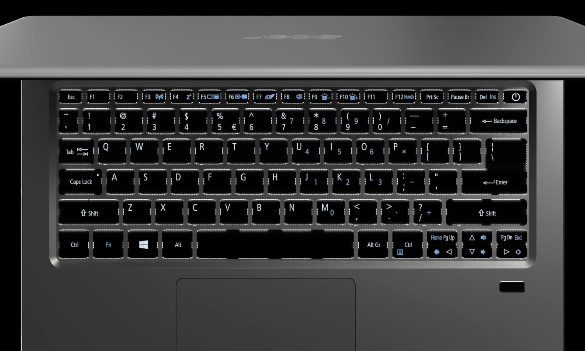 Denní nebo noční klávesnice