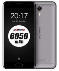 Ulefone mobilni telefon Power, siv