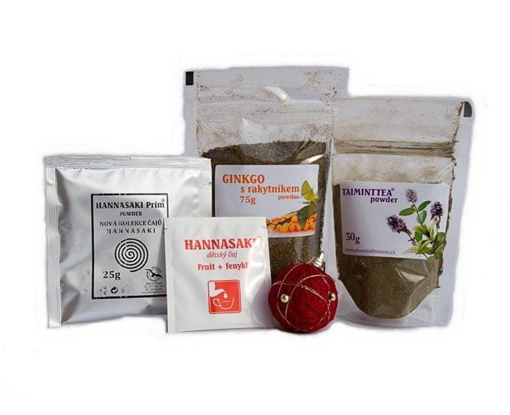 Phoenix Division Vánoční bylinný balíček čaj TAIMINTTEA a GYNKGO s rakytníkem powder