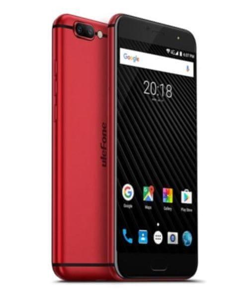 Ulefone T1, DualSIM, červený