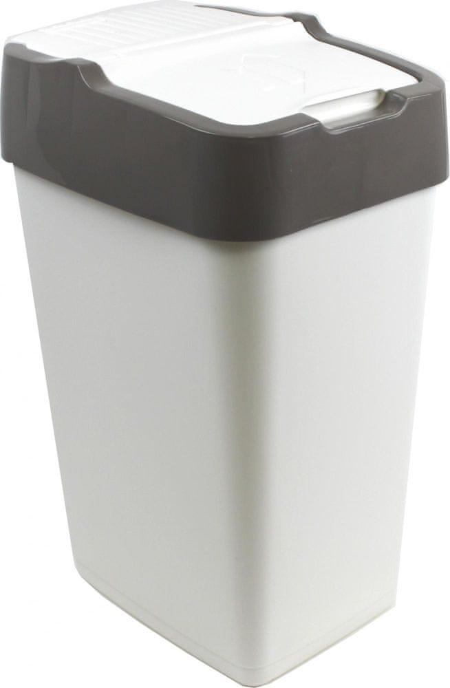 Heidrun Odpadkový koš Push Up 35 l šedá