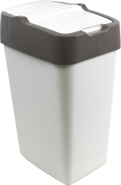 Heidrun Odpadkový koš Push Up 18 l, šedá