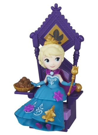 Disney Frozen malá panenka Elsa s trůnem - rozbaleno