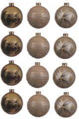 Kaemingk Dekorativne okrasne bunke 12 kosov, bronasta