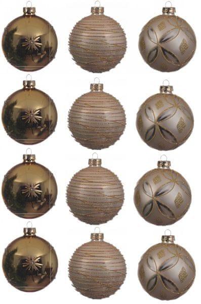 Kaemingk Dekorativní ozdoby koule 12 ks, bronzová