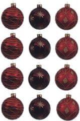 Kaemingk Dekorativne okrasne bunke 12 kosov, rdeča