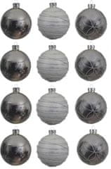 Kaemingk Dekorativne okrasne bunke 12 kosov, srebrna