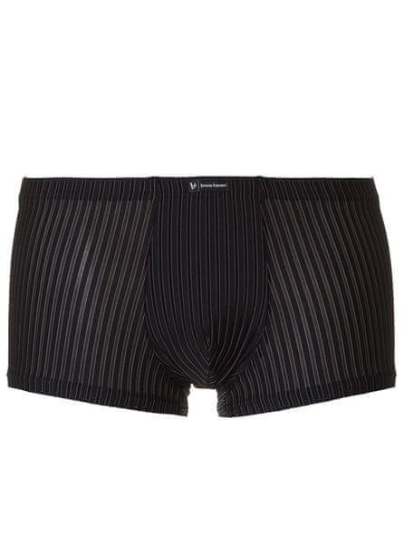 Bruno Banani boxerky černé s proužkem Hipshort Tape - Velikost: S