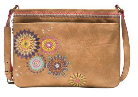 Desigual rjava ženska ročna torbica Amelie Formigal