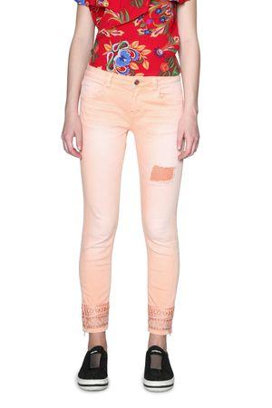 Desigual jeansy damskie Cry Baby 32 łososiowy