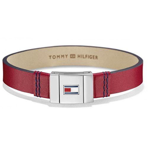 Tommy Hilfiger Stylový náramek z červené kůže TH2700951