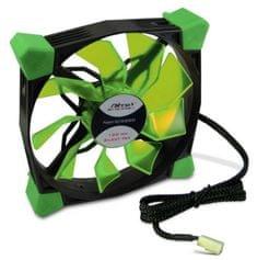 Inter-tech ventilator Nitrox L-120-GR LED, 120 mm, zelen
