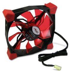 Inter-tech ventilator Nitrox L-120-R LED, 120 mm, rdeč