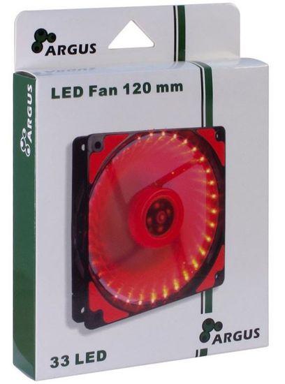 Inter-tech ventilator Argus L-12025-RD LED, 120 mm, rdeč