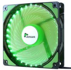 Inter-tech ventilator Argus L-12025-GR LED, 120 mm, zelen