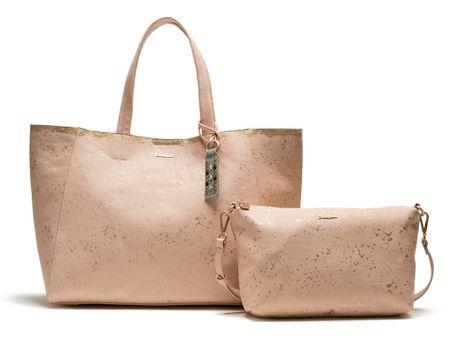 Desigual ženska ročna torbica roza Metallic Splatter Cuenca