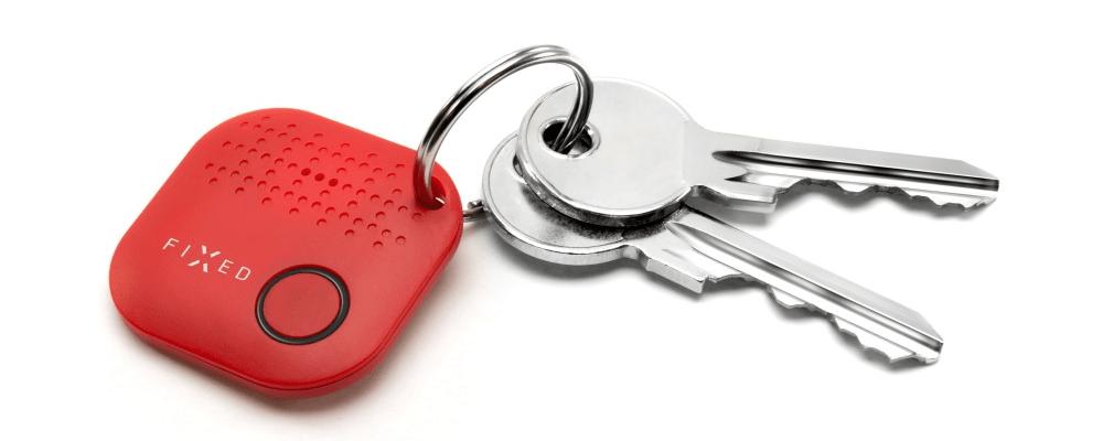 FIXED Key finder Smile červený
