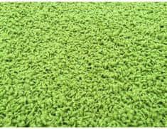 Kusový koberec Color Shaggy zelený, průměr 80 cm