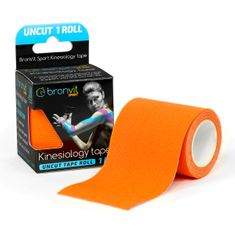 BronVit  Sport Kinesiology tape Uncut 1m x 5cm - oranžová